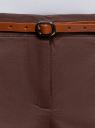 Брюки-чиносы с ремнем oodji #SECTION_NAME# (коричневый), 11706190-5B/32887/3700N - вид 4