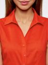 Рубашка базовая без рукавов oodji #SECTION_NAME# (красный), 11405063-6/45510/4500N - вид 4