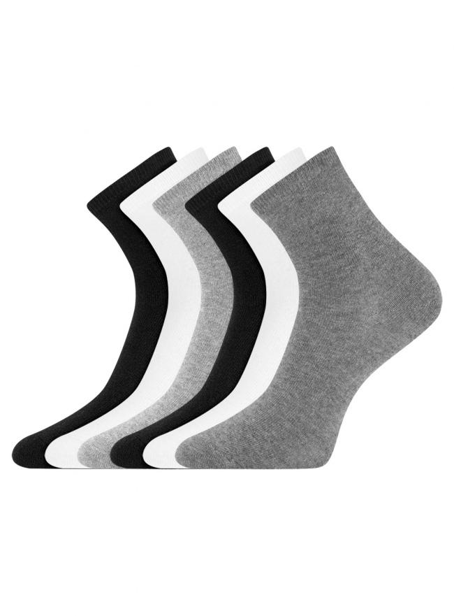 Комплект из шести пар носков oodji для женщины (разноцветный), 57102466T6/47469/36