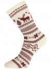 Комплект из шести пар хлопковых носков oodji для женщины (разноцветный), 57102902-5T6/49118/46 - вид 4