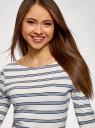 Платье трикотажное базовое oodji #SECTION_NAME# (белый), 14001071-2B/46148/1279S - вид 4