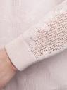 Кардиган ажурной вязки без застежки oodji #SECTION_NAME# (розовый), 63210145/46806/4000N - вид 5
