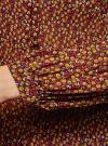 Блузка гофрированная с завязками oodji #SECTION_NAME# (коричневый), 11414005/46166/3957F - вид 5