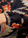 Блузка свободного кроя с вырезом-капелькой oodji #SECTION_NAME# (черный), 21400321-2/33116/2933F - вид 5