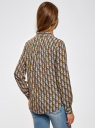 Блузка базовая из вискозы oodji для женщины (зеленый), 11411136B/26346/6645O