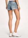 Шорты джинсовые с потертостями oodji #SECTION_NAME# (синий), 12807075-1/42559/7000W - вид 3