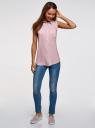 Топ вискозный с рубашечным воротником oodji для женщины (фиолетовый), 14911009B/26346/4000N