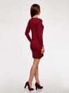Платье базовое из вискозы с пуговицами на рукаве oodji для женщины (красный), 73912217-1B/33506/4900N - вид 3
