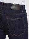Джинсы slim со средней посадкой oodji для мужчины (синий), 6B160002M/46627/7800W