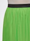 Юбка макси из струящейся ткани oodji #SECTION_NAME# (зеленый), 13G00002-4B/42816/6A00N - вид 4