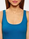 Майка базовая oodji для женщины (синий), 14315002B/46154/7501N