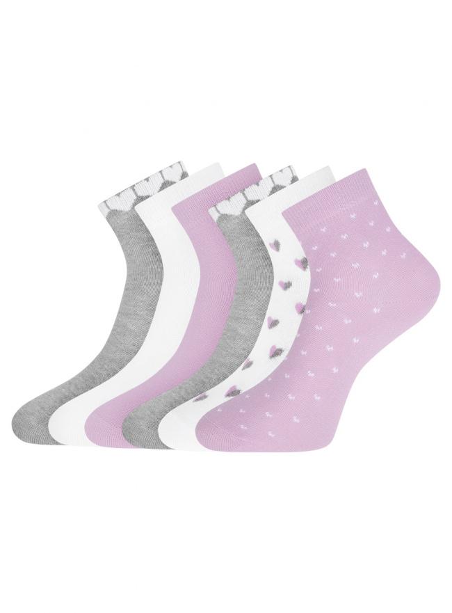Комплект укороченных носков (6 пар) oodji для женщины (разноцветный), 57102418T6/47469/61