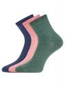 Комплект из трех пар носков oodji для женщины (разноцветный), 57102466T3/47469/24