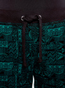 Брюки трикотажные на завязках oodji #SECTION_NAME# (зеленый), 16701042-1/46919/296DG - вид 4