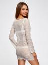 Платье кружевное с вырезом-лодочкой oodji #SECTION_NAME# (белый), 59801010/46001/1200N - вид 3
