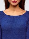 Джемпер базовый с вырезом-лодочкой oodji #SECTION_NAME# (синий), 63803046-5B/48953/7502N - вид 4