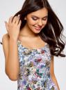 Платье-майка трикотажное oodji #SECTION_NAME# (разноцветный), 14015007-3B/37809/1241U - вид 4