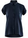Блузка из вискозы с нагрудными карманами oodji #SECTION_NAME# (синий), 11400391-3B/24681/7900N - вид 6