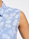 Топ хлопковый с рубашечным воротником oodji #SECTION_NAME# (синий), 14901416B/45510/7030G - вид 5