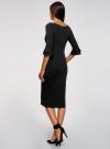 Платье облегающего силуэта с воланами на рукавах oodji для женщины (черный), 63912224/47002/2900N - вид 3