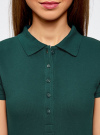 Поло базовое из ткани пике oodji #SECTION_NAME# (зеленый), 19301001-1B/46161/6E00N - вид 4