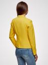 Жакет базовый приталенный oodji для женщины (желтый), 11200286B/14917/5100N