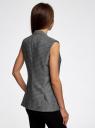 Жилет удлиненный приталенный oodji для женщины (серый), 12300099-8/46140/2529D