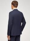 Пиджак однобортный на пуговицах oodji для мужчины (синий), 2L420281M-1/49819N/7975S - вид 3