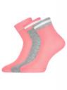Комплект из трех пар носков oodji для женщины (разноцветный), 57102466T3/47469/25