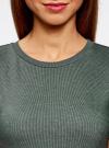 Платье в рубчик oodji #SECTION_NAME# (зеленый), 14011031/47349/6923N - вид 4