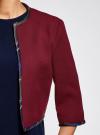 Жакет-болеро с контрастной отделкой oodji для женщины (красный), 22A00002/31291/4900N - вид 5