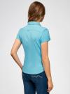 Рубашка базовая с коротким рукавом oodji #SECTION_NAME# (бирюзовый), 11401238-1/45151/7300N - вид 3