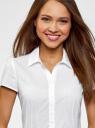 Блузка принтованная из легкой ткани oodji для женщины (белый), 21407022-12/48131/1212D