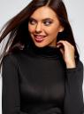 Водолазка базовая облегающая oodji для женщины (черный), 15E11005-1B/15640/2900N