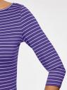 Футболка базовая с рукавом 3/4 oodji #SECTION_NAME# (фиолетовый), 24211001B/45297/8310S - вид 5