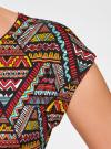 Платье трикотажное с ремнем oodji #SECTION_NAME# (разноцветный), 24008033-2/16300/4529G - вид 5