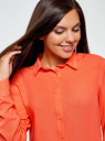 Блузка базовая из вискозы oodji #SECTION_NAME# (оранжевый), 11411136B/26346/5500N - вид 4