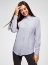 Блузка прямого силуэта с нагрудным карманом oodji #SECTION_NAME# (фиолетовый), 11411134-1B/48853/8001N - вид 2