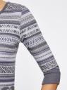 Платье жаккардовое с геометрическим узором oodji #SECTION_NAME# (фиолетовый), 14001064-5/46025/8023J - вид 5