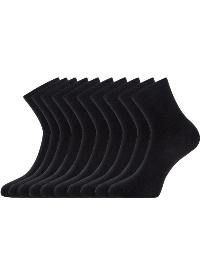 Комплект из десяти пар носков oodji для женщины (черный), 57102466T10/47469/2900N