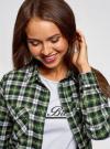 Рубашка клетчатая с нагрудными карманами oodji #SECTION_NAME# (зеленый), 13L00001-2/48869/6230C - вид 4