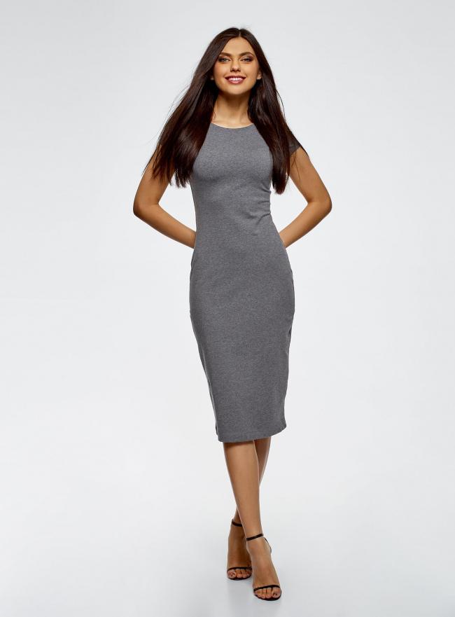 Платье миди (комплект из 2 штук) oodji #SECTION_NAME# (разноцветный), 24001104T2/47420/19WHN
