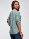 Блузка вискозная с нагрудными карманами oodji #SECTION_NAME# (зеленый), 11403225-7B/42540/6910G - вид 3