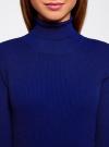 Платье вязаное с вырезом-капелькой на спине oodji #SECTION_NAME# (синий), 63912225/46999/7500N - вид 4