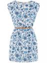 Платье вискозное без рукавов oodji #SECTION_NAME# (белый), 11910073B/26346/1270F
