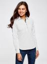 Рубашка базовая с нагрудными карманами oodji #SECTION_NAME# (белый), 11403222B/42468/1229D - вид 2