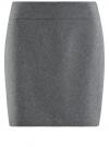 Юбка короткая базовая oodji #SECTION_NAME# (серый), 11600399-1B/14917/2500M