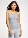 Топ трикотажный на тонких бретелях oodji для женщины (серый), 14305023-11B/50802/2001M
