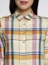 Блузка принтованная из вискозы oodji #SECTION_NAME# (желтый), 11411098-4/45208/504CC - вид 4