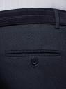 Брюки классические slim fit oodji для мужчины (синий), 2L210236M/48578N/7900O